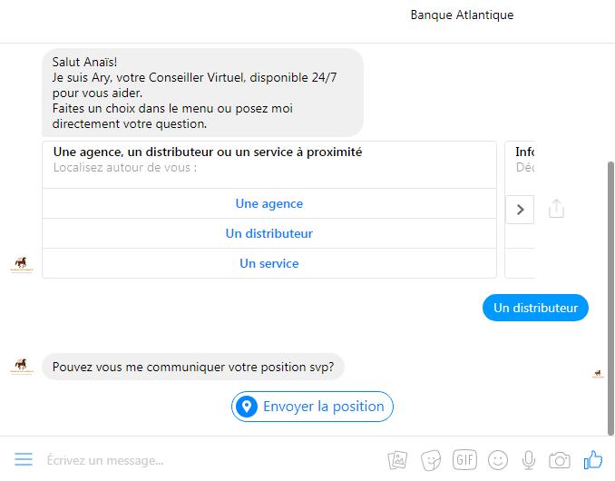 chatbot banque atlantique
