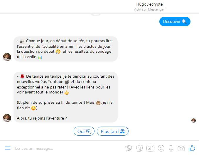 chatbot hugo decrypte