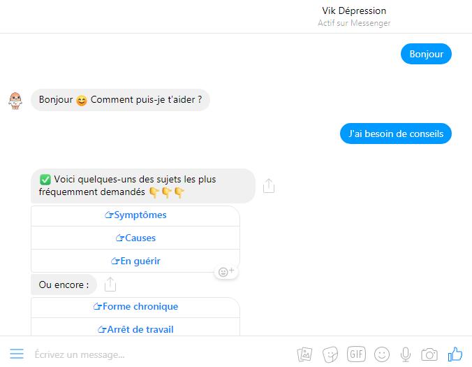 chatbot vik depression